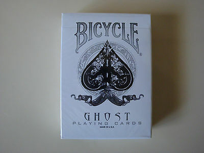INVISIBLE WHITE GHOST BICYCLE DECK PLAYING CARDS GAFF ELLUSIONIST MAGIC TRICKS