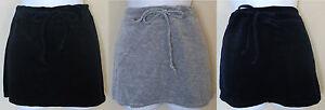 NEW-KOWAH-velvet-sport-mini-skirt-in-navy-gray-black-with-drawstring-waist-S-M-L