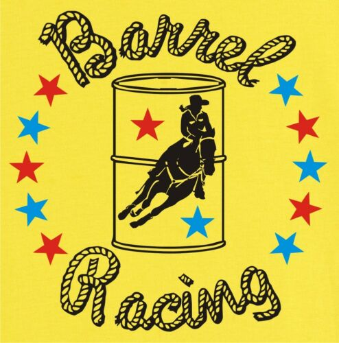 Barrel Racing Stars Rodeo Horse and Rider T-Shirt Multiple Colors /& Sizes