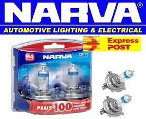 NARVA-H4-100-PLUS-100-HALOGEN-HEADLAMP-LIGHT-BULBS-NEW-GLOBES-48342BL2