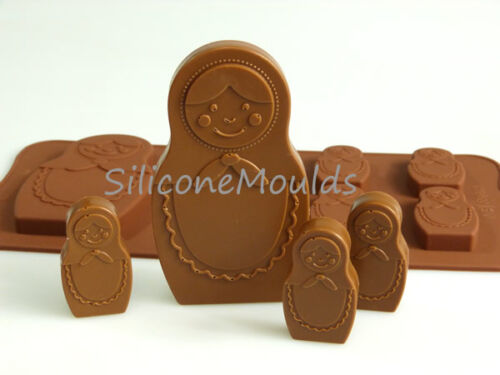 6+1 RUSSIAN DOLL Chocolate Silicone Bakeware Mould Gift Jelly Candy Cake Mold