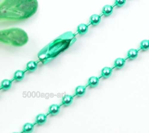 U Pick 28Inch Ball Chain Necklace 2.4mm bead connector 12Color wholesale