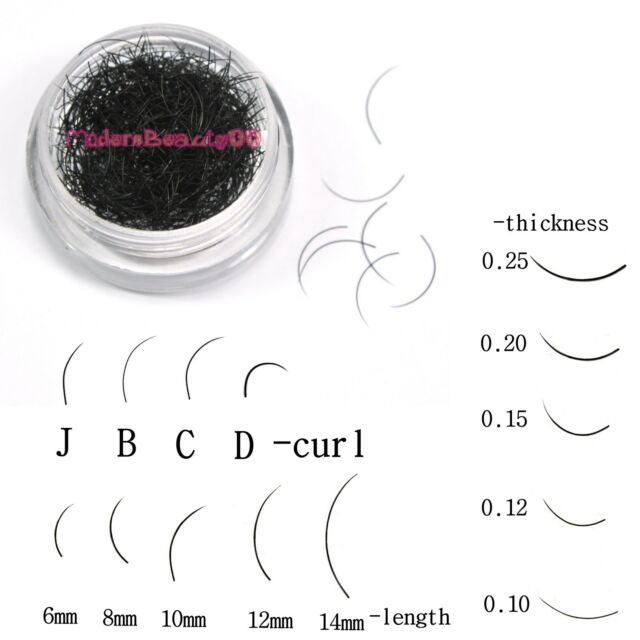 Individual Black False Curl Eyelash Extension Eye Lashes Makeup Tools Choose