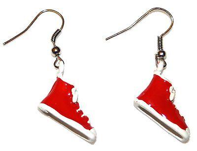 Funky Converse Baseball Boot Drop Earrings. Brand New Quirky & fun Jewellery