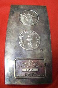 Engelhard-1986-Liberty-Trade-Bullion-Bar-999-Silver-100-Troy-Oz-RARE-z684