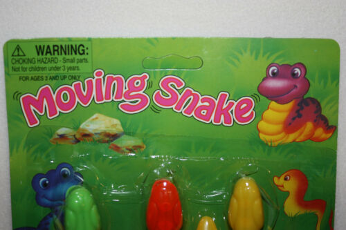 """Choice of Colors Set of 3 Moving Snakes 11/"""" Wiggle Toy New"""