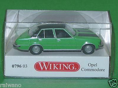 1:87 Wiking 079603 Opel Commodore grün metallic mit schwarzem Dach
