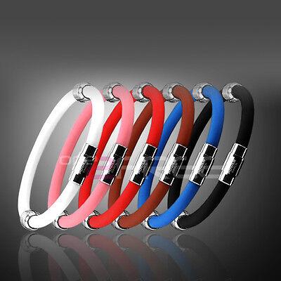 Newest Titanium Power Ionics Ion Plus Magnetic Bracelet Wristband 6 Color U Pick