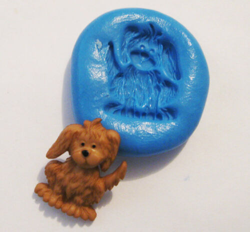Dog Flexible Silicone Push Mold Polymer clay Resin Miniature plaster wax mould