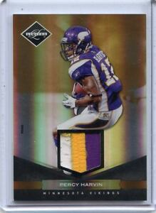 2011-LIMITED-55-PERCY-HARVIN-PRIME-3-COLOR-PATCH-SP-29-50-MINNESOTA-VIKINGS