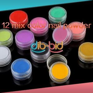 Professional-12-Mix-Color-Jumbo-Beautiful-Nail-Art-Acrylic-Powder-Builder-Set-2