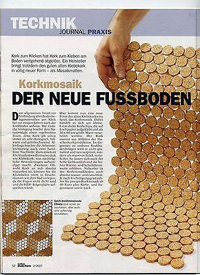 2. Wahl, Korkmosaik  Fusswarmer Boden und Wandbelag, Mosaikfliesen  Rundmosaik