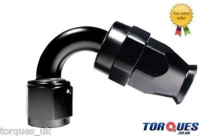 AN-6 (AN6 JIC -6 ) 120 Degree Stealth Black Teflon PTFE Hose Fitting