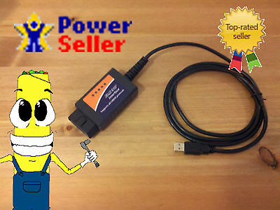 Mitsubishi PC USB OBD2 OBDII OBD-2 Scanner Interface Code Reader