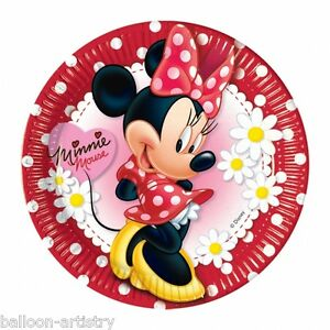 10-Disney-Minnie-Mouse-Red-Polka-Dots-Party-9-034-Paper-Plates
