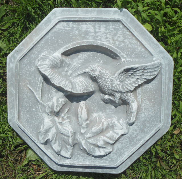 plastic garden mould stepping stone hummingbird concrete plaster mold