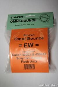 Sto-Fen Omni-Bounce EW Diffuser f/Sony HVL-F43AM Flashes Stofen -Free World Ship