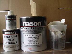 Victory Red Dupont Nason 2k Ful Thane Single Stage Acrylic Urethane Auto Paint Ebay