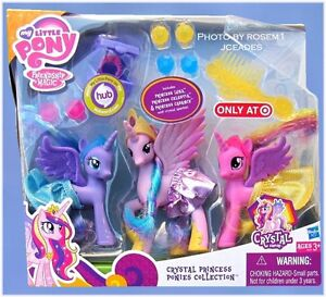 My Little Pony Crystal Princess Collection Luna Celestia Cadance Fim Exclusive Ebay