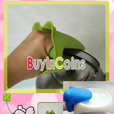 Kitchen Hippo Insulated Oven Cooking Non-slip Gloves Animal Mitts HF