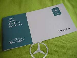 Neues-originales-Wartungsheft-fuer-W108-280S-280SE-280SE-3-5-280SEL-3-5-Mercedes