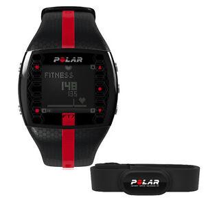 Polar-Ft7-Fitness-Heart-Rate-Monitor-w-H1-Transmitter-Strap-Black-Red-Mens