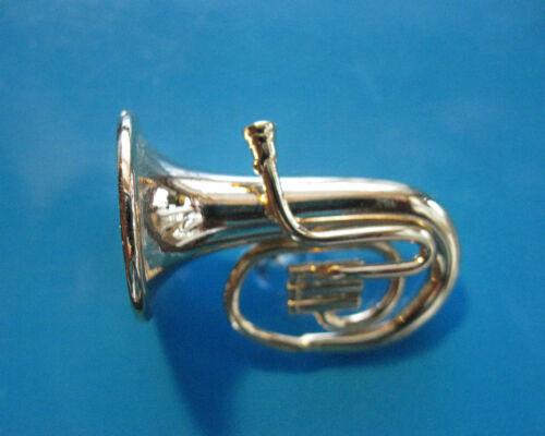 TUBA  miniature - hat pin, tie tac, lapel pin, hatpin (PGTU)