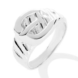 technibond classic style buckle ring anti tarnish platinum