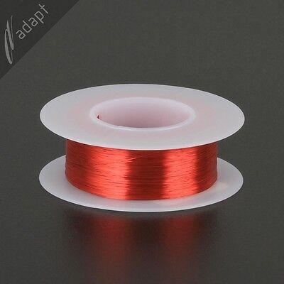 Magnet Wire, Enameled Copper, Red, 36 AWG (gauge), 155C, ~1/8 lb, 1550' HPN