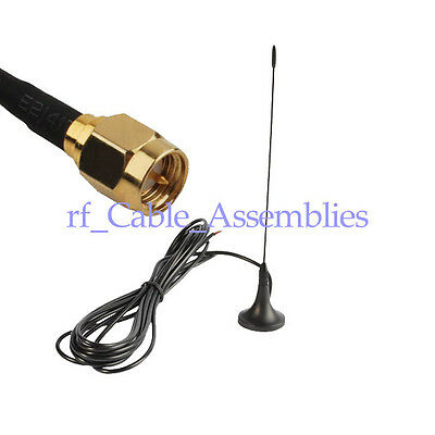 Antenna 433Mhz,3dbi SMA male with Magnetic base for Ham