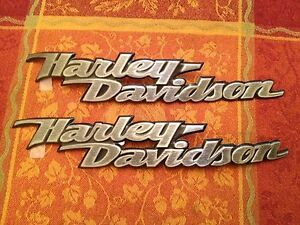 HARLEY-DAVIDSON-OEM-EMBLEM-FUEL-TANK-FXDBI-MEDALLION-62308-06-LH-62309-06-RH