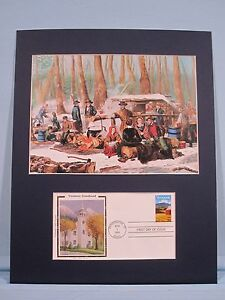 Vermont Maple Syrup & a Sugaring Party in Vermont & First Day Cover