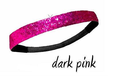 Sparkle Glitter Headband for Athletic Sports Dance Softball 17 colors Cheer