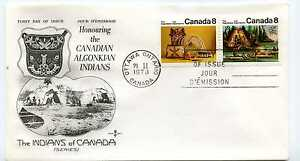 Canada-566-67-Algonkian-Indians-horizontal-RoseCraft-FDC