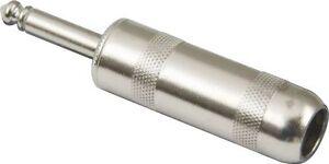 Switchcraft 184L Large 1/4 6.35 mm Jumbo Mono Speaker Cable Plug w/ Solder Lugs