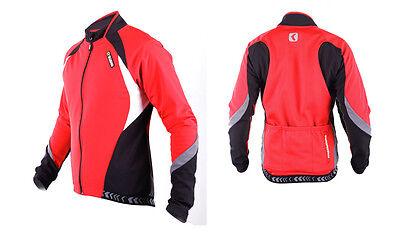 SOBIKE Mens Cycling Winter Jacket Wind Coat-Aurora Red