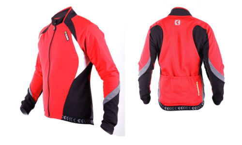 SOBIKE Mens Cycling Winter Jacket Wind Coat-Aurora Red