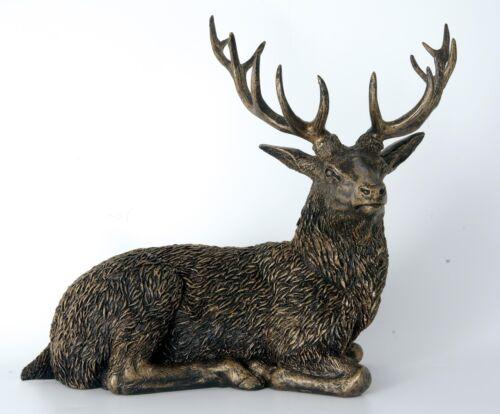 LD182  Langholm Design Stag Bronze Finish Figurine NEW in BOX  18176