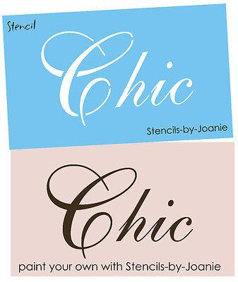STENCIL Chic Fancy Script font Cottage Garden Diva craft Signs Shabby decor
