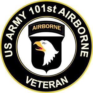 Army 101st airborne division veteran 5 5 sticker for 101st airborne window decals