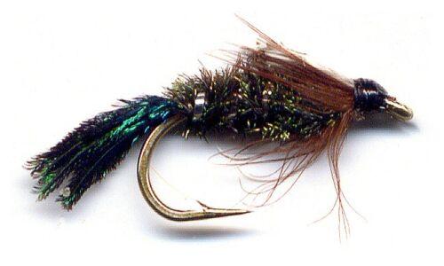 Zug Bug Nymph Fly Fishing Flies Twelve Flies in Choice of a Bead /& Hook Size