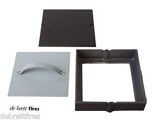 3x-Soot-Door-Box-9-x-9-Chimney-Flue-Black-Cast-Inspection-Hatch-Clean-Sweep
