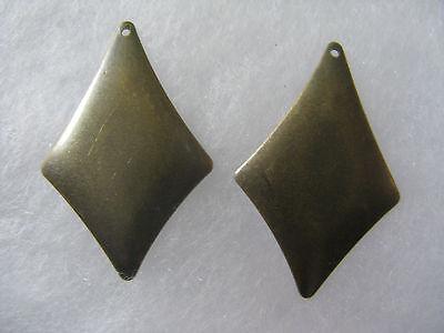 Dangle Earring Findings 5 pair Beautiful Brass Plated