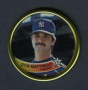 Don Mattingly New York Yankees 1989 Topps Coins Oddball