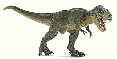 Papo 55027 Green Tyrannosaurus Rex Running Dinosaur Model Toy - NIP