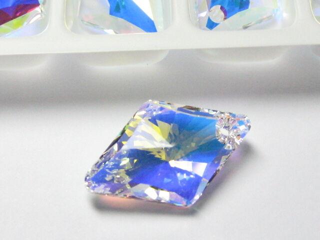 1pc Swarovski ®  14mm AB Crystal Rhombus Pendant Swarovski ref: 6320