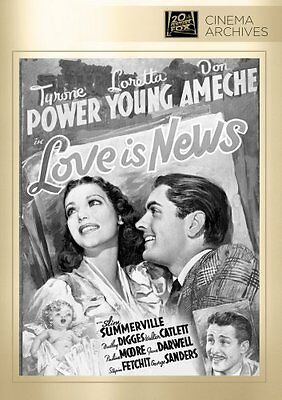 Love is News DVD - Tyrone Power, Loretta Young, Don Ameche, Tay Garnett