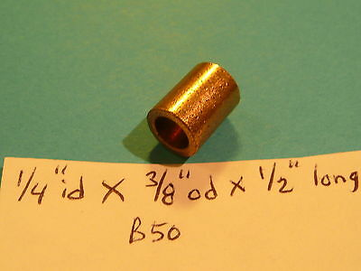 Oilite Bushing Bronze New 1/4 id x 3/8 od x 1/2 Long Brass Bearing Motor B50