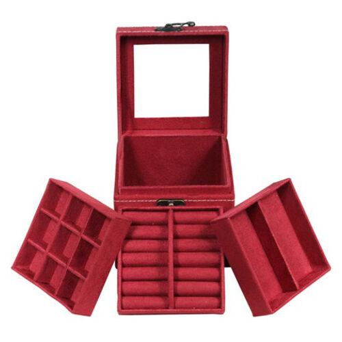 Suede Velvet Jewellery Trinket Packaging Makeup Beauty Travel Vintage Box