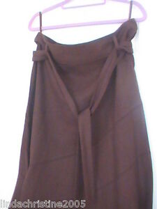 NEW-LOOK-BROWN-LINEN-MIX-SKIRT-SIZE-10-SUPERB-CON